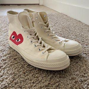 Size 11 Converse/Comme Des Garcon Play